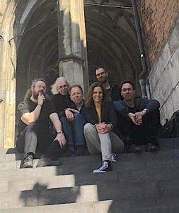 Painters collective with from left to right Ulrich Suberg, Sjaak Kaashoek, Riebo Rietema, Wencke Vinks, (above) Erik van de Beek, Jos van Riswick.